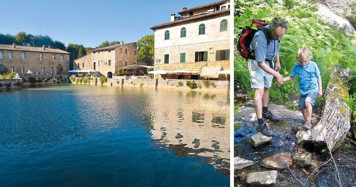 Wandern um Bagno Vignoni