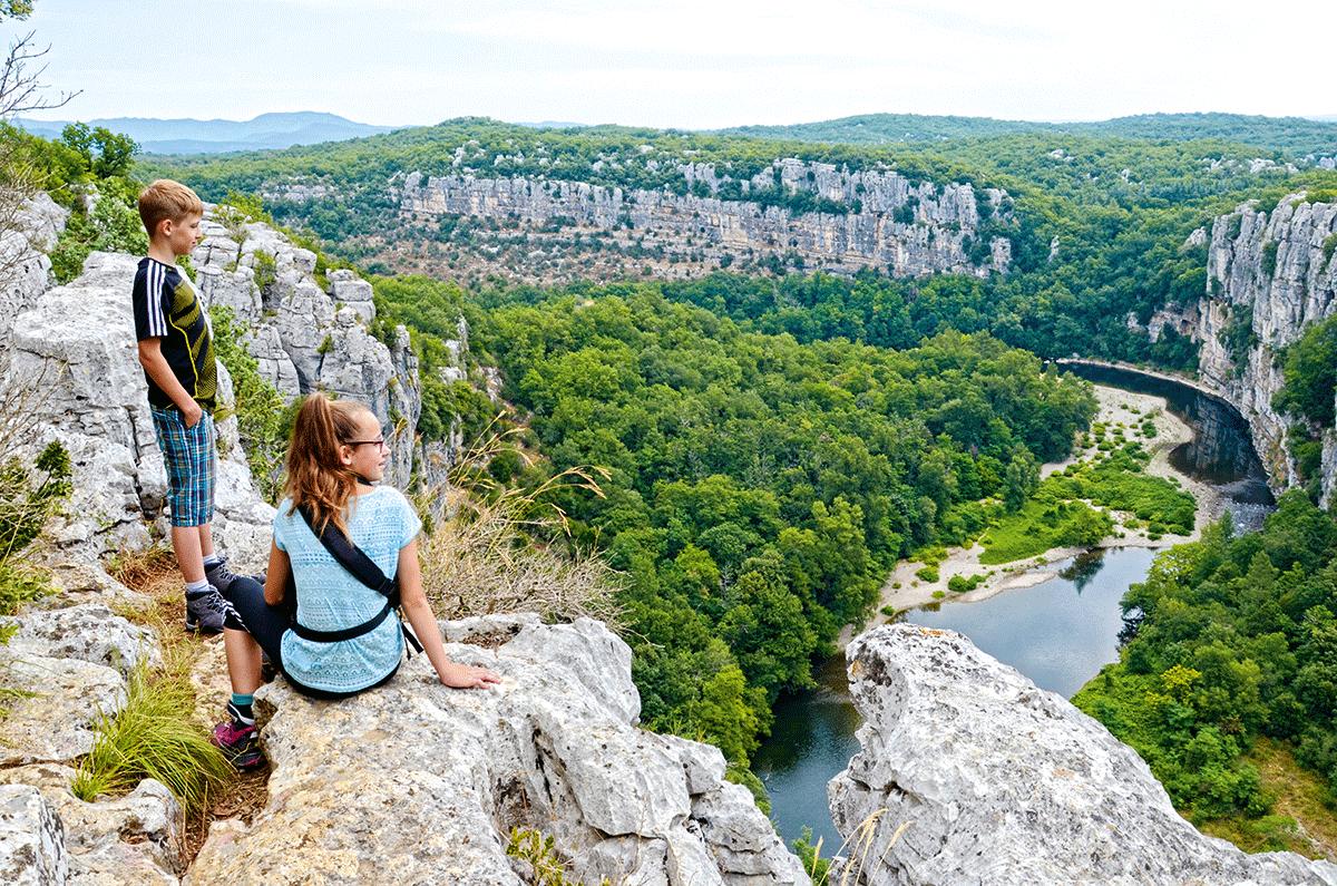 Die Gorges de Chassezac kleiner als die Gorges de l'Ardeche, aber genauso schön.