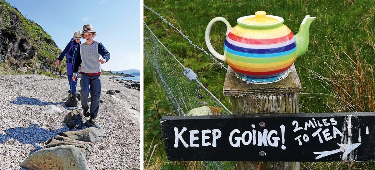 Wandern mit Mindern in Schottland