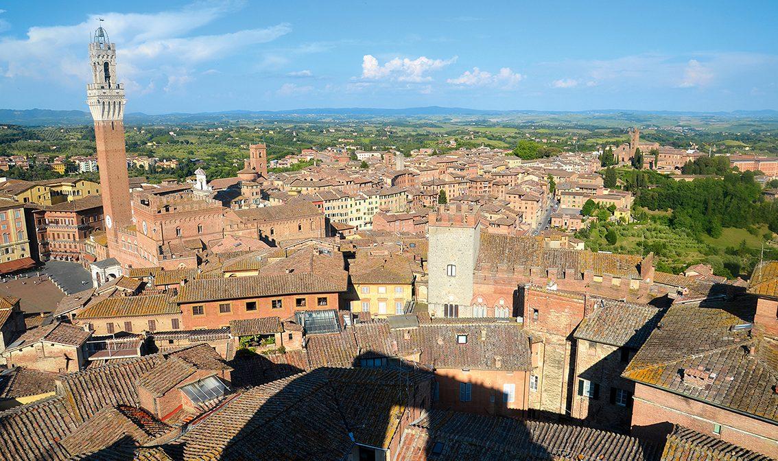 Der beste Blick auf Siena