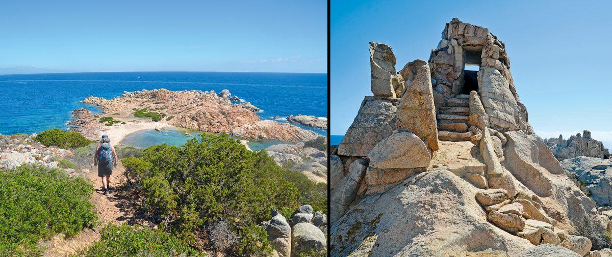 Wandern auf Caprera, Tour 1 + 2, Sardinien mit Kindern