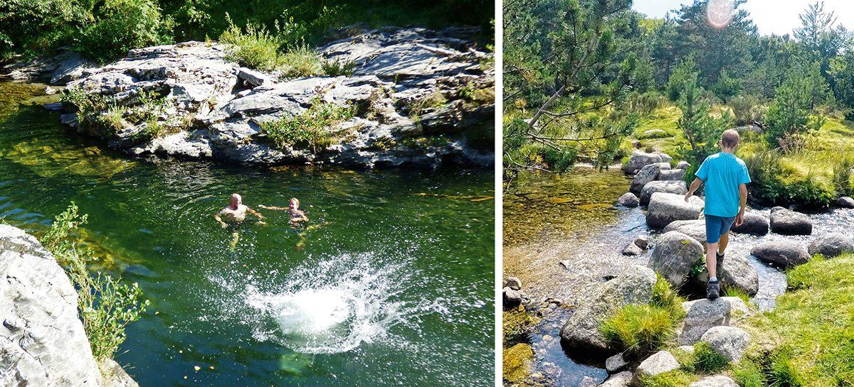 Wandern und Baden an der Ardèche