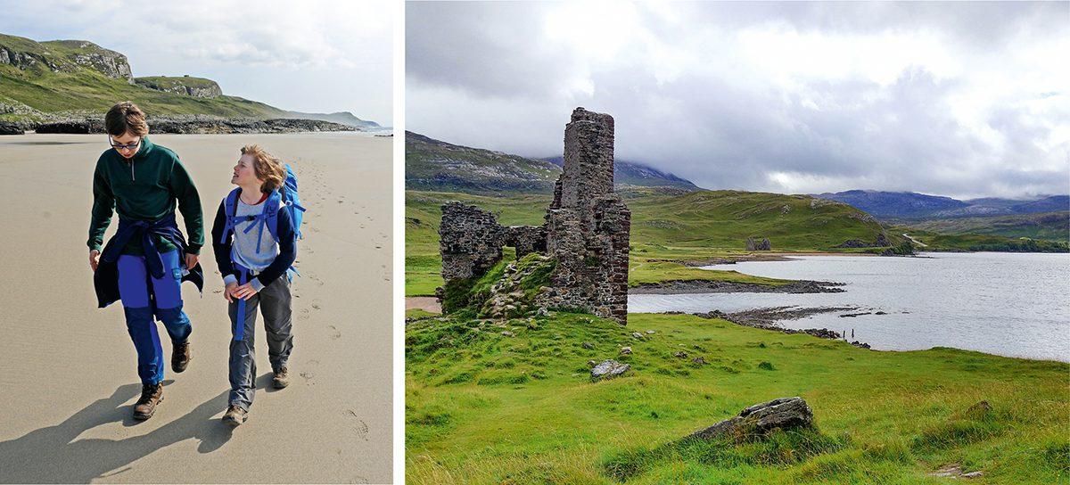 Starnd und Burgen in Schottland