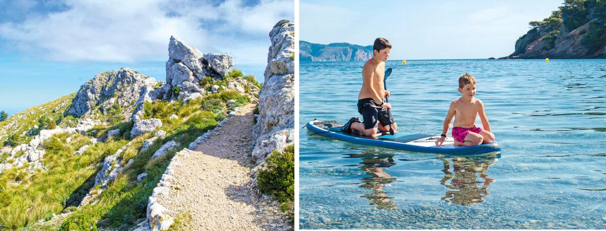 Wandern und baden auf Mallorca